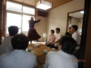 支援者によるチベット式祝詞